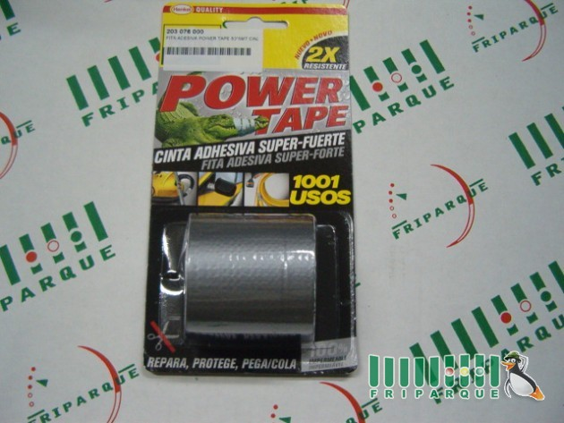 FITA ADESIVA POWER TAPE 50*5MT CINZA